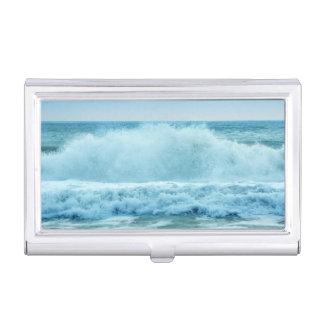 Ocean Wave Crashing Business Card Holder