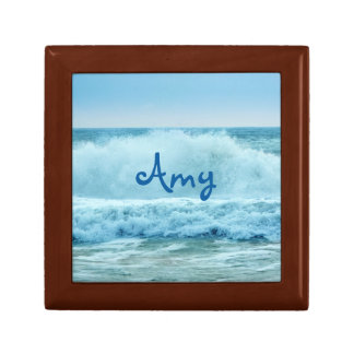 Ocean Wave Crashing Small Square Gift Box