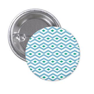 Ocean Wave Diamond Zigzag Button
