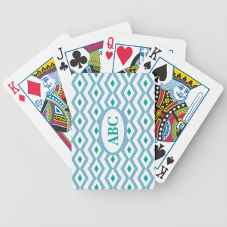 Ocean Wave  Diamond Zigzag Playing Cards