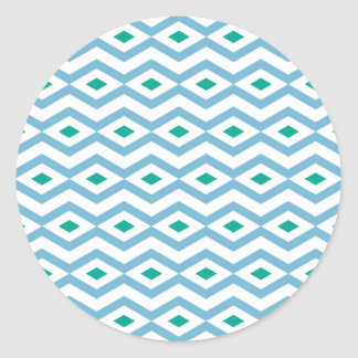 Ocean Wave Diamond Zigzag Sticker