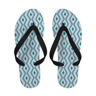 Ocean Wave Diamond Zigzag Woman s Sandals