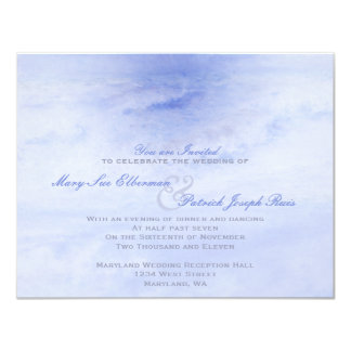 Ocean Wave: Pale Blue Evening Only Small Wedding 11 Cm X 14 Cm Invitation Card