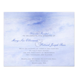 Ocean Wave: Pale Blue Evening Only Small Wedding Invitations