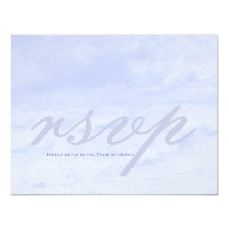 Ocean Wave: Pale Blue Wedding Customizable RSVP Card