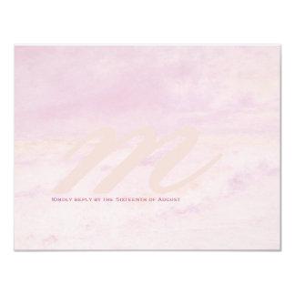 Ocean Wave: Pale Rose Wedding RSVP Cards 11 Cm X 14 Cm Invitation Card