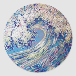 OCEAN WAVE ROUND STICKER