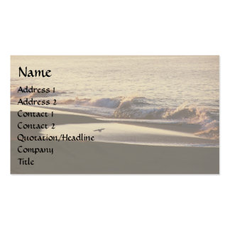 Ocean Wave Seashore Business Card