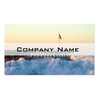 Ocean Wave Storm Pier Business Cards