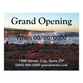 Ocean Wave Storm Pier Custom Flyer