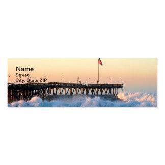 Ocean Wave Storm Pier Pack Of Skinny Business Cards