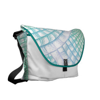 Ocean Waves Abstract Messenger Bag