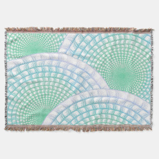 Ocean Waves Abstract Throw Blanket