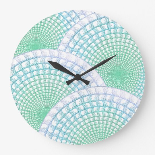 Ocean Waves Abstract Wall Clock