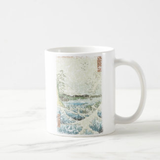 Ocean waves and Mt Fuji Coffee Mug