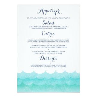 Ocean Waves Beach Menu Cards Personalized Invites