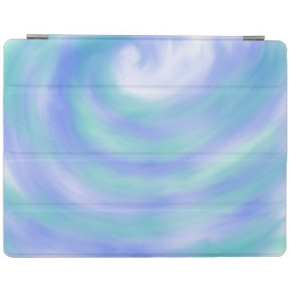 Ocean Waves Blue and Aqua Abstract Art Design iPad Cover