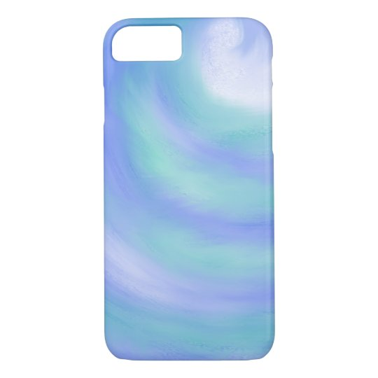 Ocean Waves Blue and Aqua Abstract Art Design