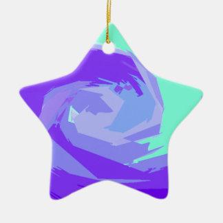 Ocean waves ceramic star decoration