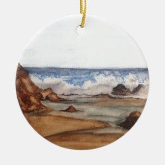 ocean waves christmas ornament