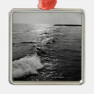Ocean waves christmas ornament