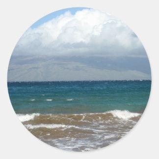 Ocean Waves Classic Round Sticker