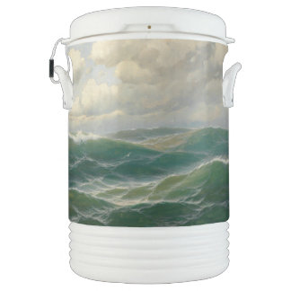 Ocean Waves High Seas Seagull Bird Igloo Cooler