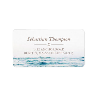 Ocean Waves Nautical Label