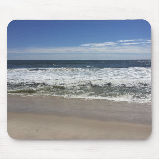 Ocean Waves on Beach Photo Mouse Pad