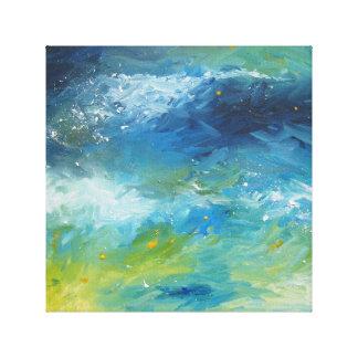 Ocean waves on canvas