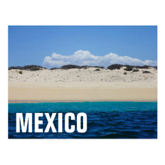 Ocean Waves On Sandy Beach Under Blue Sky Postcard