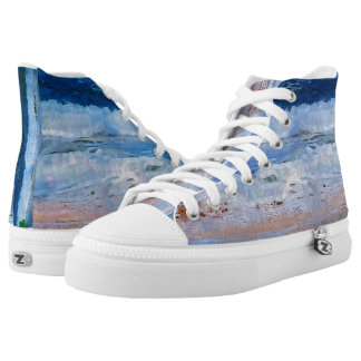 Ocean Waves on Shore Printed Shoes
