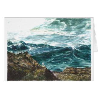 Ocean waves -Oregon coast Card