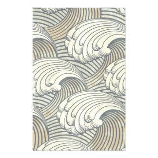 Ocean Waves Pattern Ancient Japan Art 14 Cm X 21.5 Cm Flyer