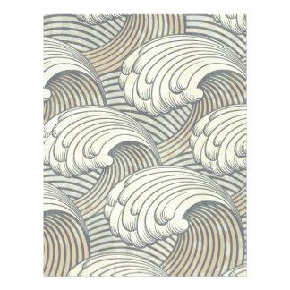 "Ocean Waves Pattern Ancient Japan Art 8.5"" X 11"" Flyer"