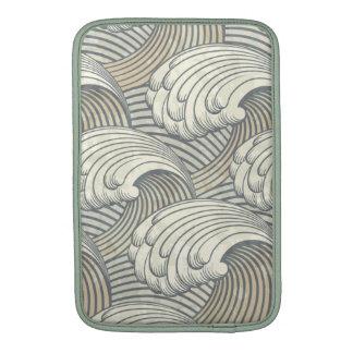 Ocean Waves Pattern Ancient Japan Art MacBook Sleeves