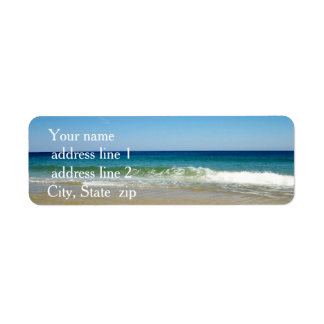 Ocean waves return address label
