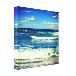 Ocean Waves Rolling Into Shore Canvas Wrap`