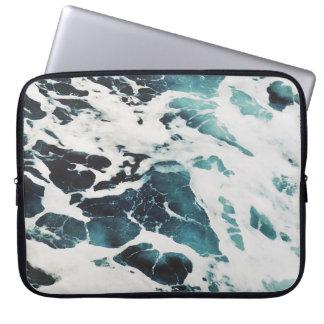 ocean waves sea nature blue water beautiful laptop sleeve