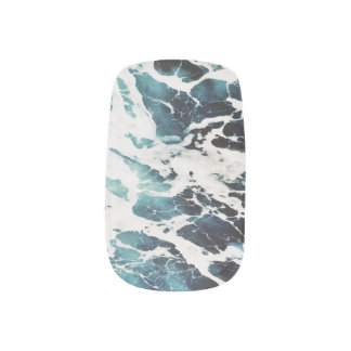 ocean waves sea nature blue water beautiful minx nail art