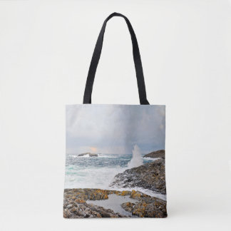 Ocean waves seascape after a storm tote bag