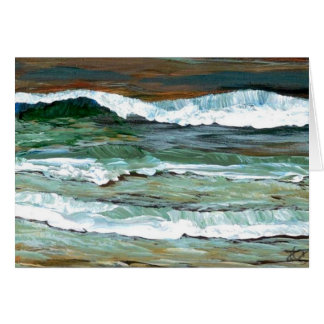 Ocean Waves Seashore Beach Art Greeting Cards