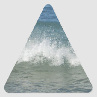 Ocean Waves Triangle Stickers