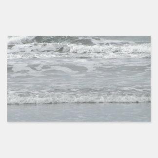 Ocean Waves Rectangular Sticker