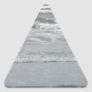 Ocean Waves Triangle Sticker