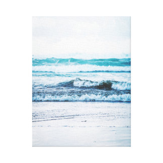 Ocean waves version 2 Photography Canvas Canvas Print