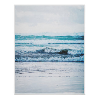 Ocean Waves version 2 Photography Poster Print