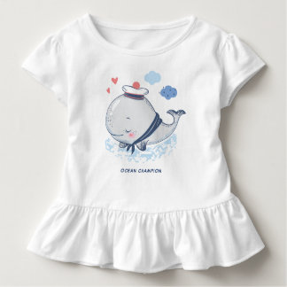 Ocean Whale in Hat Toddler T-Shirt