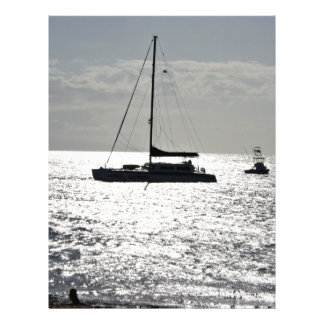 Ocean with boats custom flyer