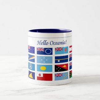 Oceania Flags Two-Tone Mug